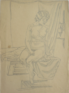 Nu 2. 1939. P., pencil. 38х28.