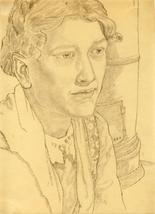 Girl's Portrait. 1939. P., pencil. 30х22.