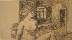 Bath. 1940. P., ink, pen. 12х21.