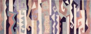 Эскиз панно для вестибюля тонстудии Казахфильма. 1979. Б., акварель.