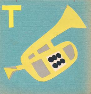 "Алфавит. Буква ""Т"". Конец 1960-х-нач.1970-х. Цв. б., цв. картон."