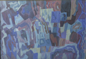 Abstract composition. P., gouache. Collercion of A. Kelberg.