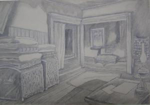 Sketch for a movie. P., graphite pencil. 20,6x28,4.
