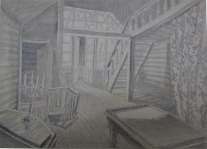 Sketch for a movie. P., graphite pencil. 20,6x28,8.