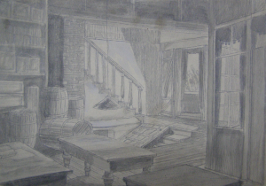 Sketch for a movie. P., graphite pencil. 21.5x31.6.