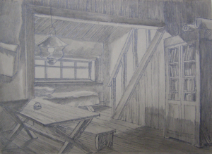 Sketch for a movie. P., graphite pencil. 21x29.7.