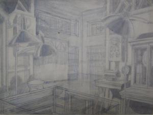 Sketch for a movie. P., graphite pencil. 22,2x28,8.