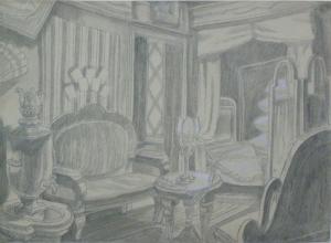 Sketch for a movie. P., graphite pencil. 23x31.6.