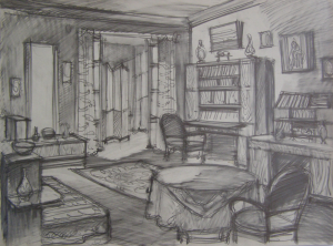 Sketch for a movie. P., graphite pencil. 29.7x40.7.