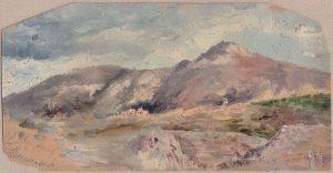 Горы Крита. 1899. Картон, масло.