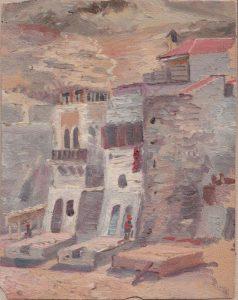 Укрепления. Крит. 1899. Картон, масло.