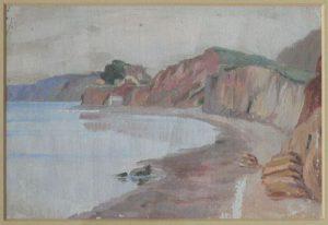 Прибрежный пейзаж. Крит. 1899. Картон, масло.