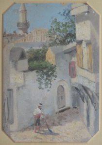 Вид из окна. Крит. 1899. Картон, масло.