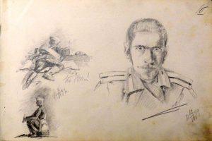 Портрет сослуживца. Крит. 1899. Лист из походного альбома Я.Я. Зальцмана. Графитный карандаш.